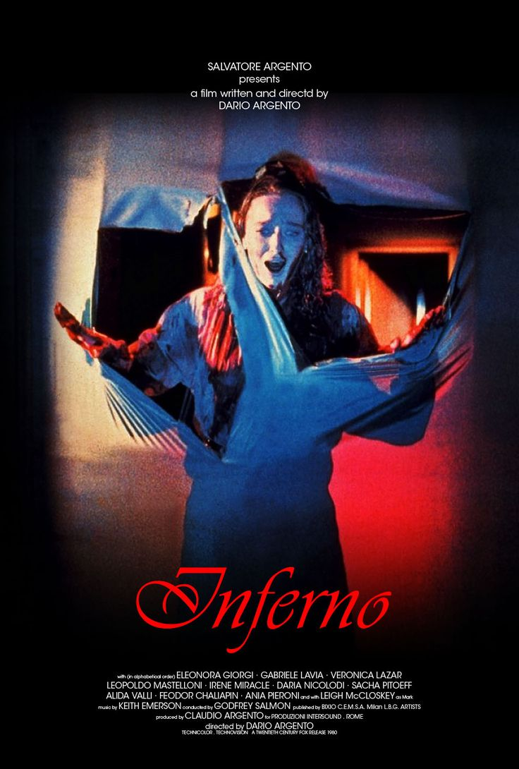 Dario Argento's signature look in this poster for 'Inferno' ...