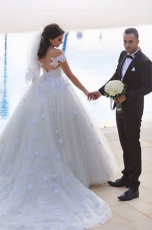 Cheap wedding dresses Saudi Arabia Wedding Dress Ball Gowns Sweetheart off the Shoulder Luxurious Lace Country Wedding Gowns Backless Bridal Dresses Vestido Branco vestidos de novia
