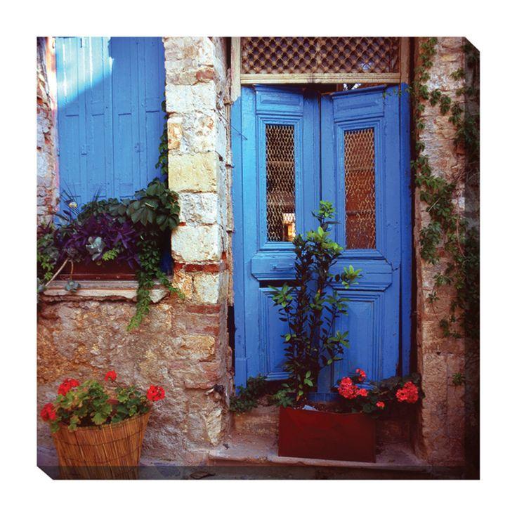 West of the Wind Mediterranean Door Outdoor Canvas Art - 24 x 24 in. - 79026-24