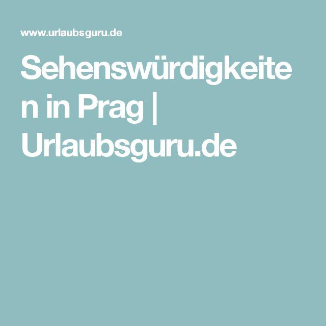 Sehenswürdigkeiten in Prag   Urlaubsguru.de
