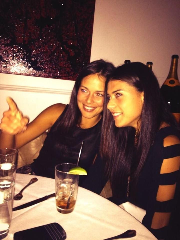 The Lovely Anna Ivanovic & Sorana Cirstea out for Dinner....