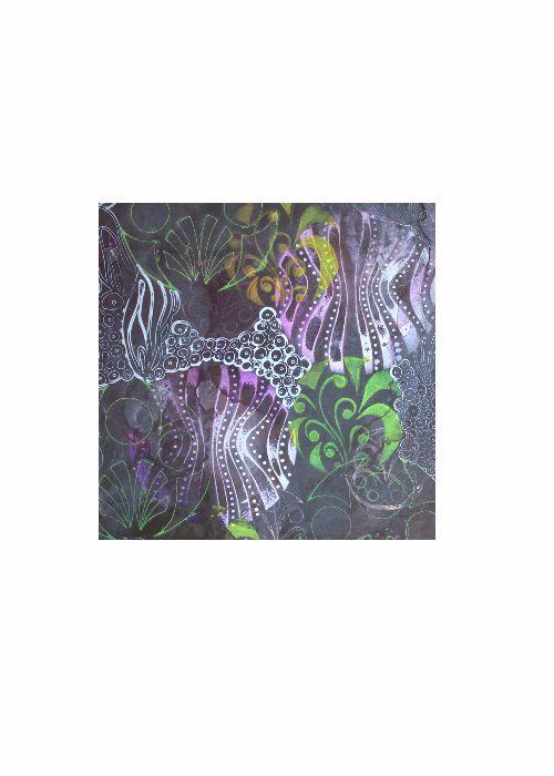 Mens Cotton Pocket Square - Ultra Violet Abstract by VIDA VIDA j6D2nLB