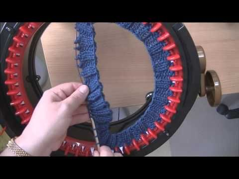 ▶ How to Put a Knitted Ribbed Brim on an Addi King - YouTube