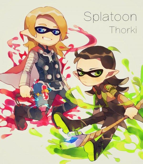 #Splatoon #Thor #Loki #Marvel (Art by ?)