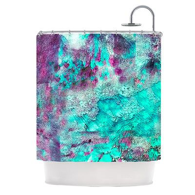 KESS InHouse Think Outside The Box Polyester Shower Curtain