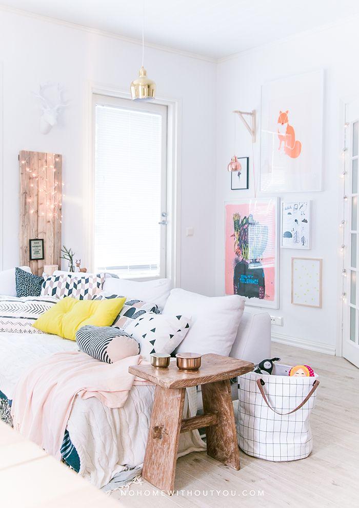 Colores vivos en una casa de estilo nórdico