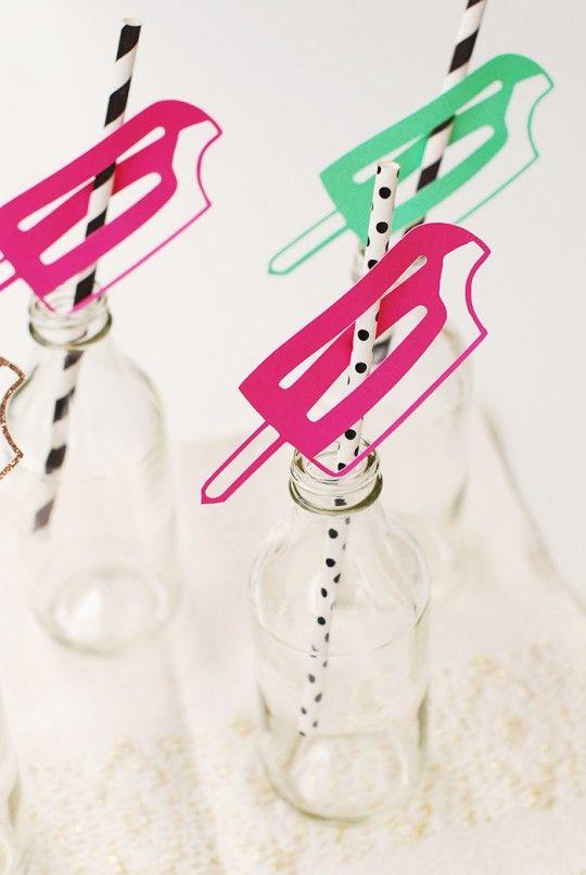 DIY Popsicle Drinking Straws