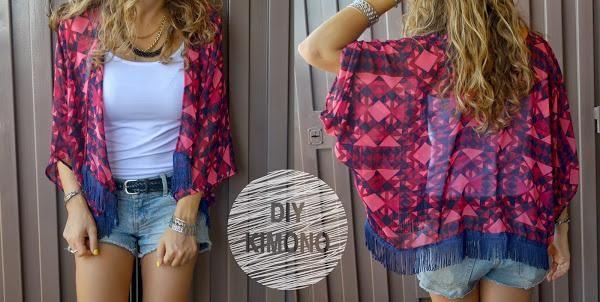 ¿Quieres ir a la última con tus propios diseños? Este kimono con flecos no te puede faltar en el armario.