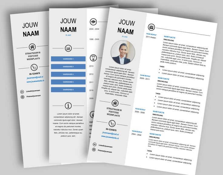 CV template 268 Laat de lay-out van je CV pimpen en eventueel de tekst optimaliseren. www.mooicv.nl