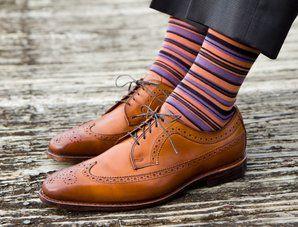 Dapper Classics Striped Mens Socks