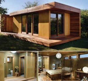 Tiny house plans...really like the modern clean lines on this one.