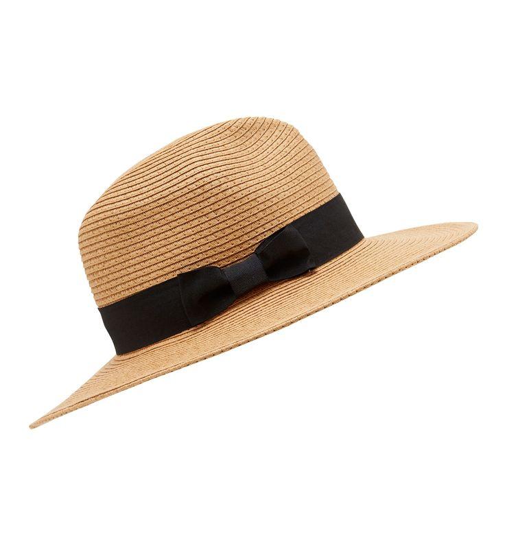 Talia Fedora Straw Hat Tan/Black - Womens Fashion | Forever New