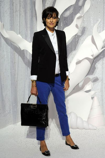 Ines de la Fressange au défilé Chanel le 4 octobre 2011