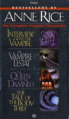 Vampire novels that are actually well written.  Not your typical vampires. I LOVED the Vampire Chronicles! Tale of the Body Thief was the best!