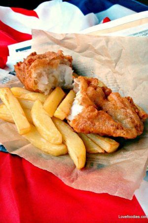BRITISH BEER BATTERED FISH AND CHIPS -- with a batter that has been perfected so that it turns out with a tasty, light and crispy texture that your family is sure to enjoy! | Featured on www.thebestblogrecipes.com