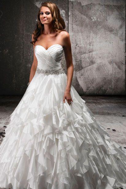 (wedding dress,sparkle,ball gown,ruffle,belt,sinched,dress)