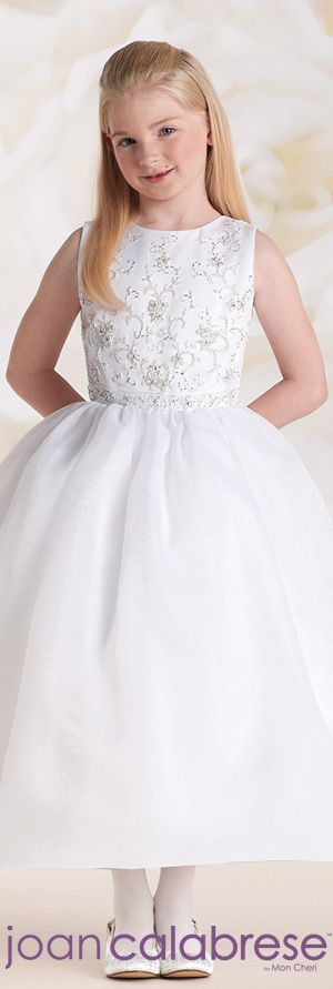 Joan Calabrese for Mon Cheri  - Style No. 115307 #flowergirldresses   calabresegirl.com