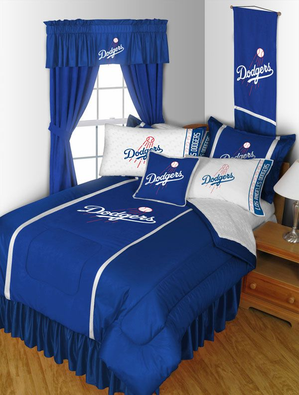 Image of 2 Pack MLB Dodgers Pillowcases - Los Angeles Baseball Bed Accessories