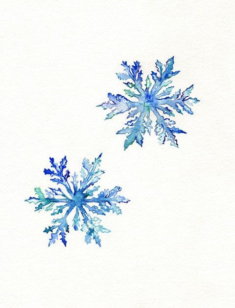 Snowflakes / Happy Holiday  / Blue / Christmas by kellybermudez, $20.00