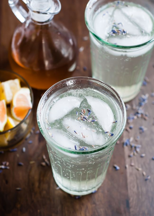 Refreshing Homemade Lavender Soda ~ All you need is a lavender simple syrup, Sparkling Mineral Water and lemon