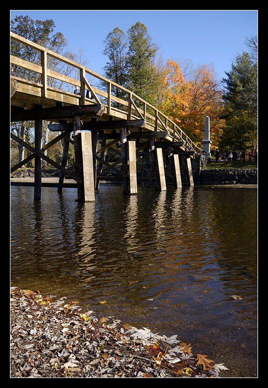 North Bridge, birthplace of American Revolution April 1775, Concord, Massachusetts Copyright: Kathy Marscher