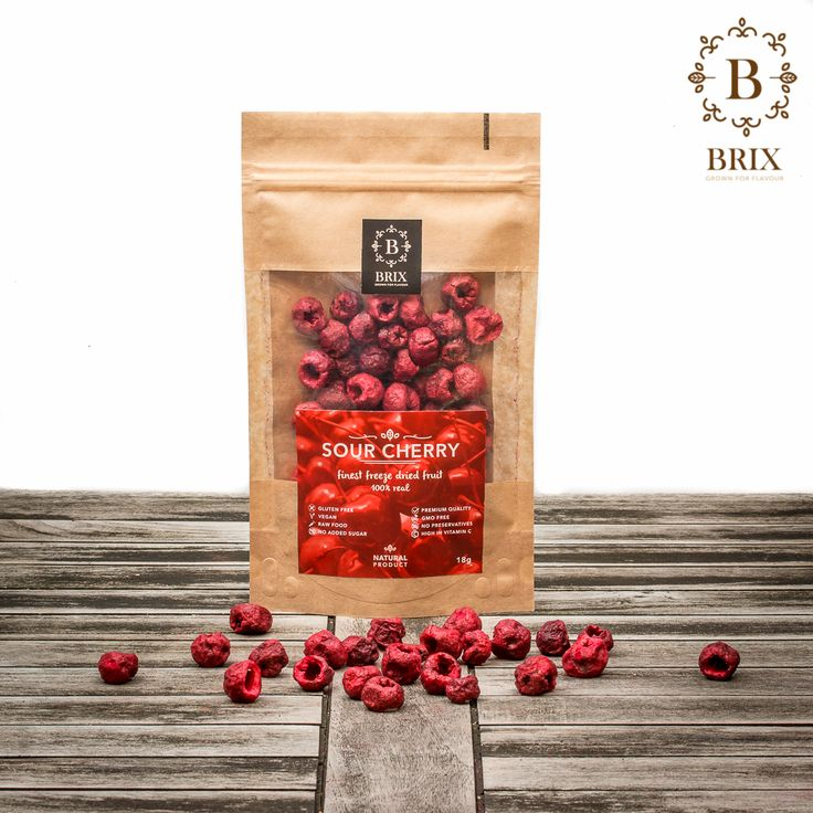 Finest freeze dried crispy Sour-cherries Photo courtesy of Brix-Grown for flavour #brixproducts #brixgrownforflavour #freezedriedfruitthatchangedmylife #FreezeDriedFruit #raw #vegan #healthy #crispy #sourcherry #natural #noaddedsugar #foodpic #flavour #tasty #health #healthyfood #product #design