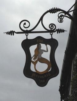 Mermaid Inn Sign in Rye, Uk
