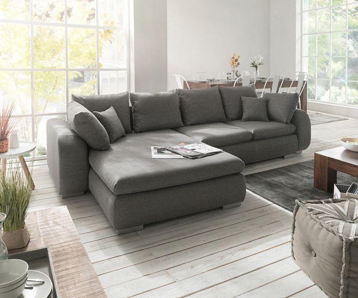 Die besten 25+ Big sofa grau Ideen auf Pinterest Sofas - couchgarnitur wohnzimmer pictures