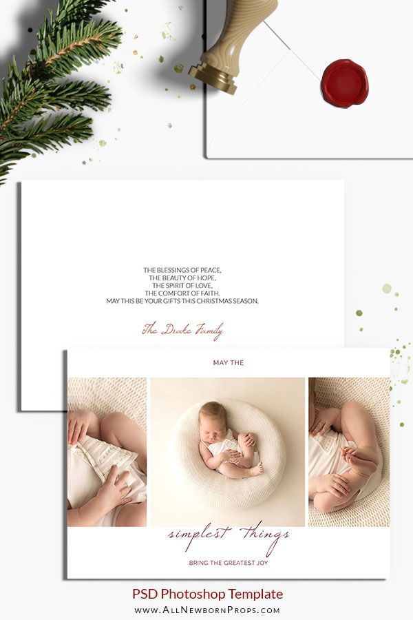 Christmas Card Photoshop Template Simplest Things All Newborn Props Newborn Photography Tips Newborn Christmas Photography Christmas Card Photoshop