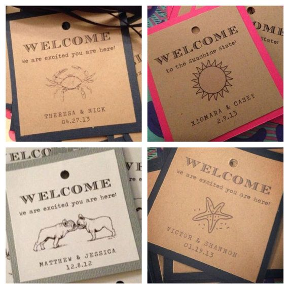 Reserved Welcome Gift Tags With Ribbon