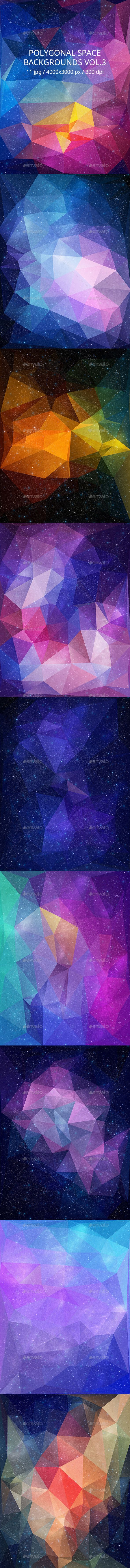 Polygonal Space Backgrounds Vol.3