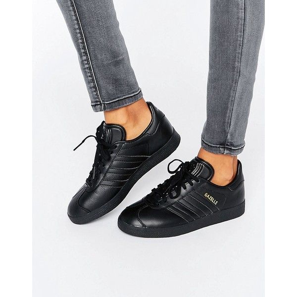 ... adidas originals all black gazelle trainers (435 sar) liked on polyvore  featuring shoes b52a16c7a247d
