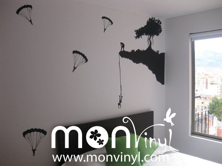 Vinilo montaje paracaidas vinilos decorativos vinilos for Decoracion paredes vinilos adhesivos