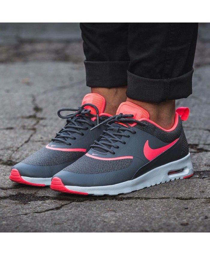 Nike Air Max Thea Charcoal Grey Anthracite Rose Trainer Very hot series of  styles, work is very fine and smooth, the line is very satisfying to you.