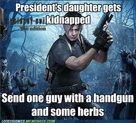 video game logic resident evil 4