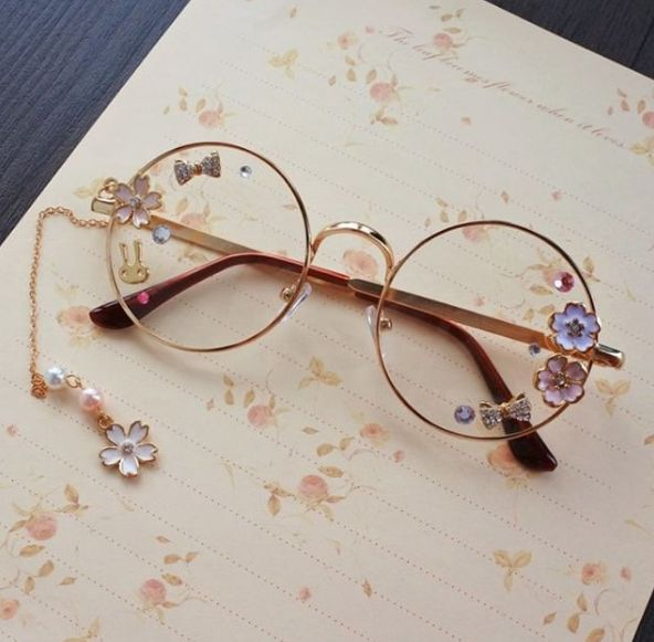 "Custom lolita cosplay sweet flower glasses  SE10168      Coupon code ""cutekawaii"" for 10% off"