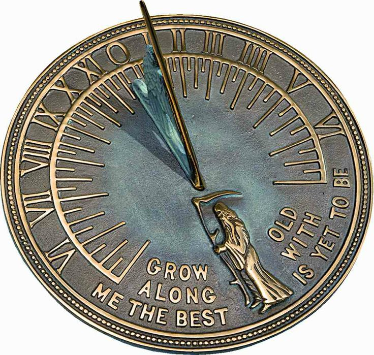 Father Time Sundial ~ 'Grow old along with me, the best is ...