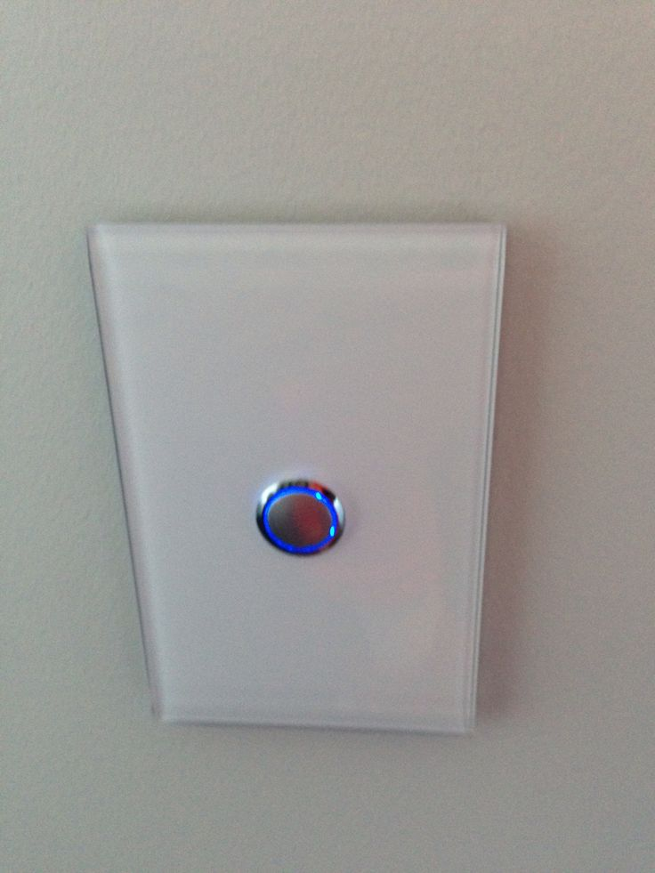 Push button light switches. Way of the future? Clipsal Saturn range.