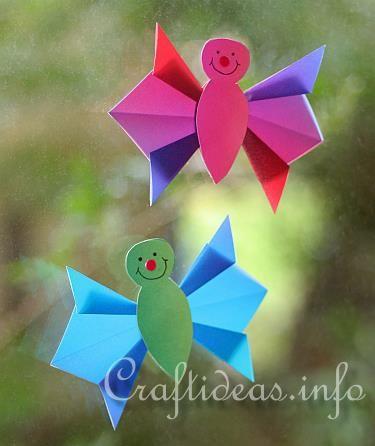 Easy origami butterflies craft