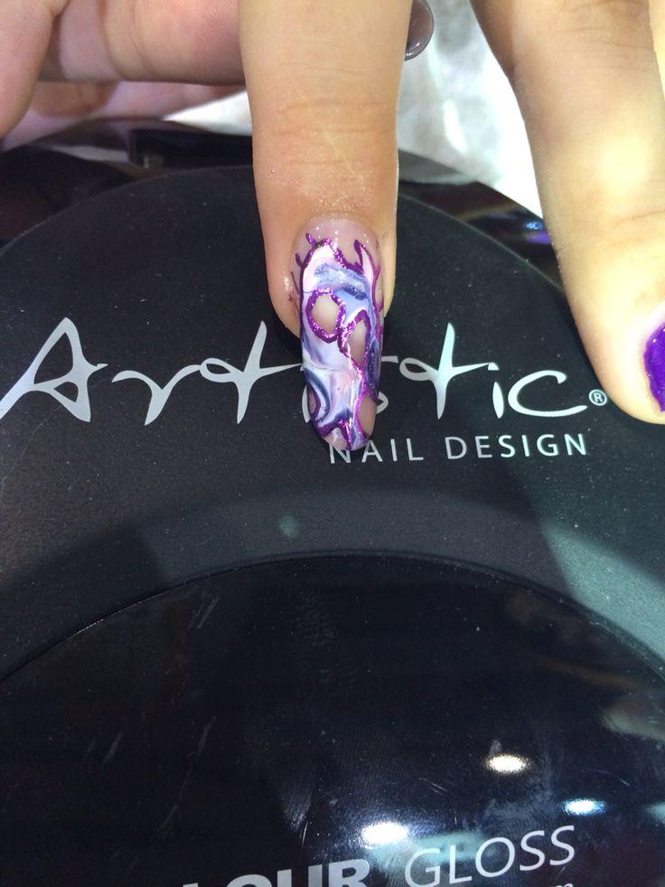 Artistic Nail design L&P + Colour Gloss