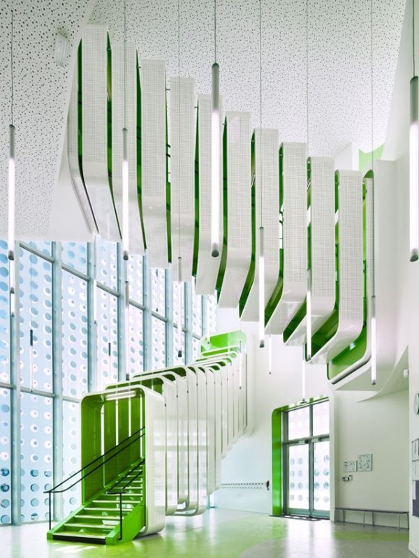 stairs at L'École Polyvalente Claude Bernard Primary School, Paris