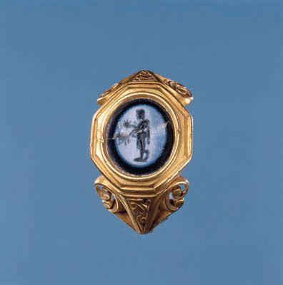 Den romerske guldring fra graven i Hågerup