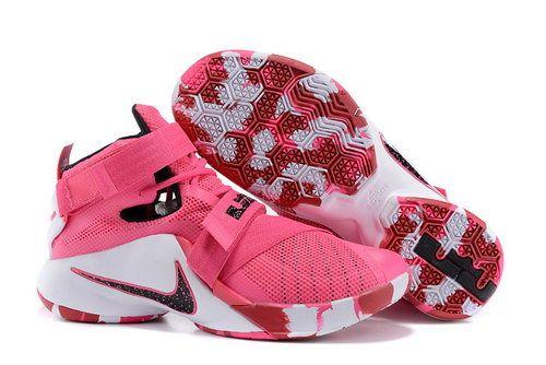 Nike Lebron Soldier 9 Pink White Black France(USD 89.99)-Shop Nike Free 5,0 Sko Online Butik Gratis Forsendelse Alle Ordrer!