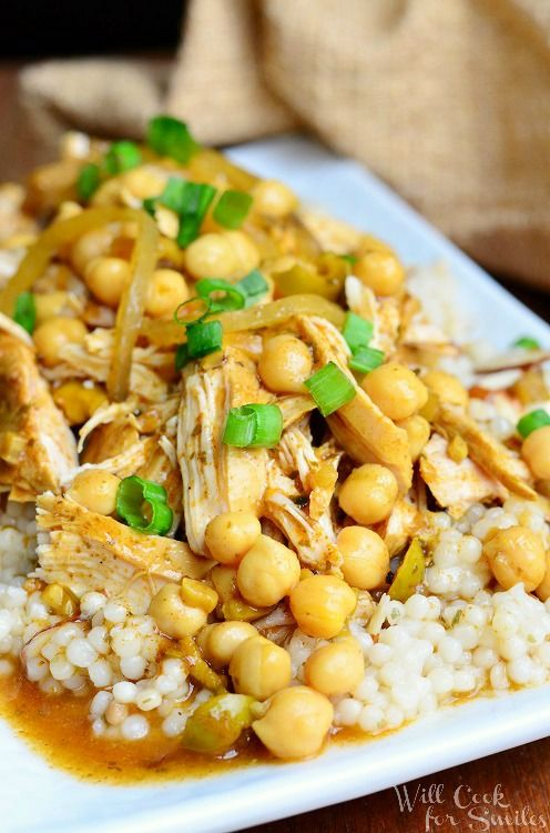 Slow Cooker Moroccan Chicken | from willcookforsmiles.com #chicken #slowcooker #CampbellsSkilledSaucers
