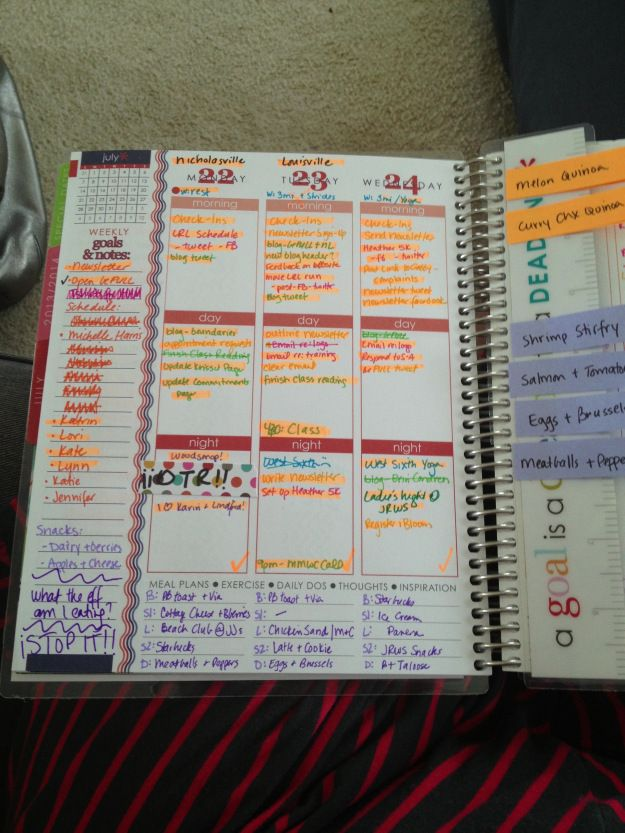 Erin Condren planner ideas
