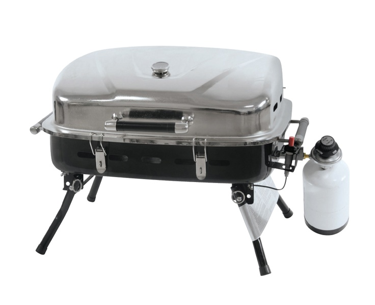 this 10 000 btu table top gas bbq is perfect for an apartment balcony small backyard camping. Black Bedroom Furniture Sets. Home Design Ideas
