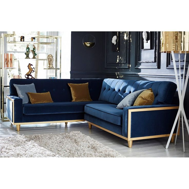 Vintage corner sofa Available in a range of fabrics andwood finishes Also available in leather Made in collaboration with Hemingway Design This stunning corner sofa is charming, nostalgic, snazzy and chic all at the same time. It
