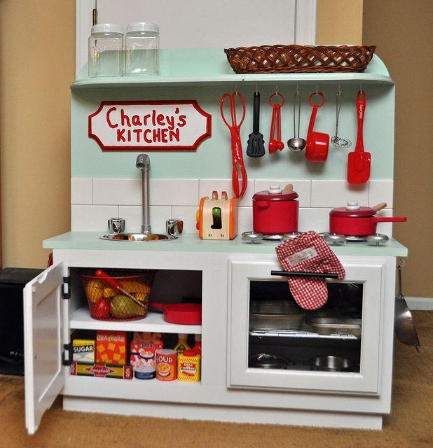 キッチン ままごとキッチン カラーボックス : DIY Play Kitchen