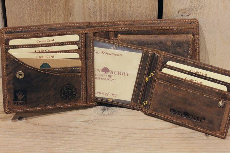 Geldbörsen - Leder Geldbörse Herren Portemonnaie in braun - ein Designerstück von Bag-in-Time bei DaWanda