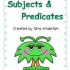 This packet includes engagement activities to build on student's understanding using simple and complete subjects and predicates.  It includes enga...
